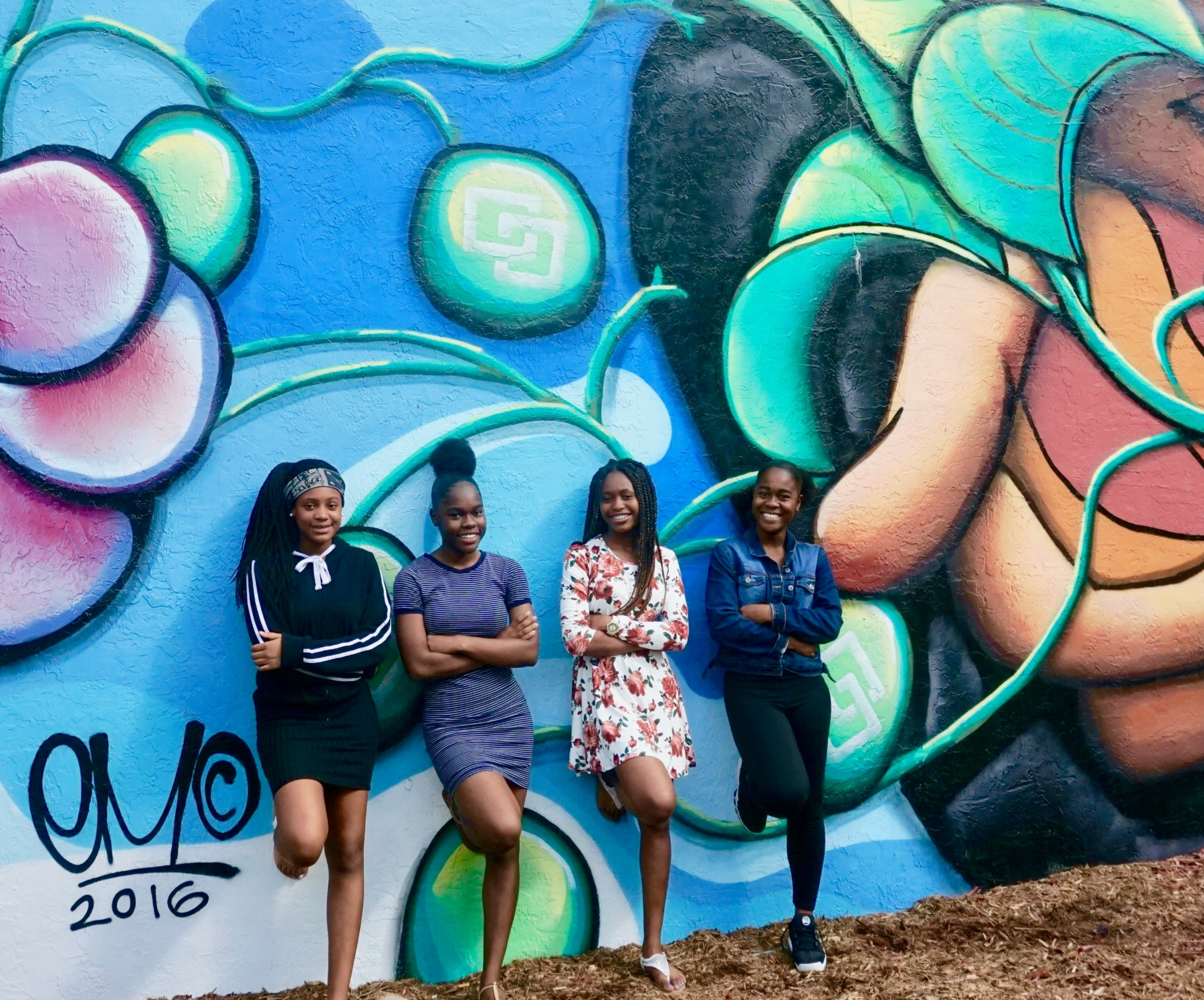 EJS youth and painted wall